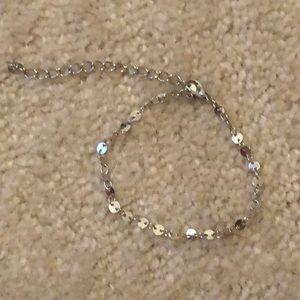 Paparazzi Silver circles adjustable bracelet